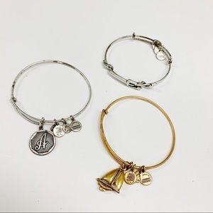 Alex and Ani Set of 3 Bracelets Sailboat Pitchfork